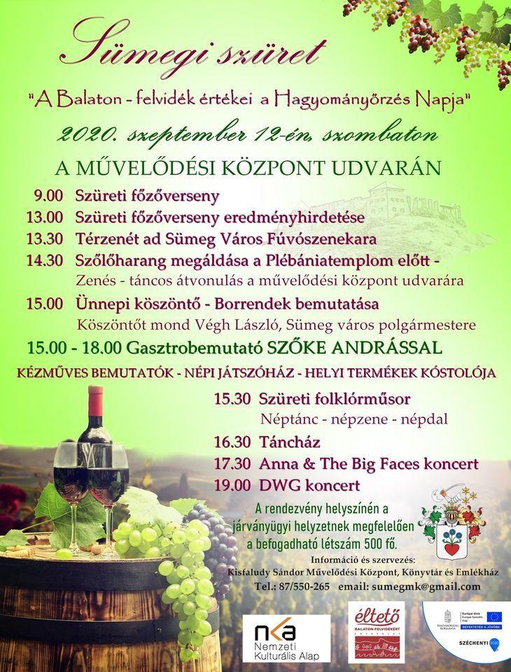 Sümegi Szüret -A Balaton-felvidék értékei, a Hagyományőrzés napja