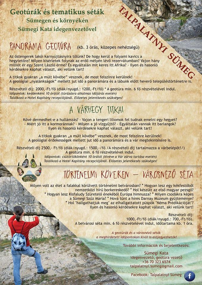 Geotúrák és tematikus séták Sümegen